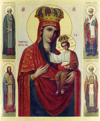Черниговская Ильинская икона Божьей Матери